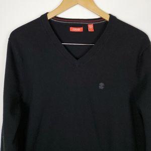 Izod ❤ Black Vneck Sweater. Size Medium.